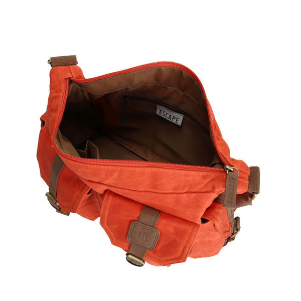 Escape Waxed Canvas Tactical Bag | Orange - KaryKase