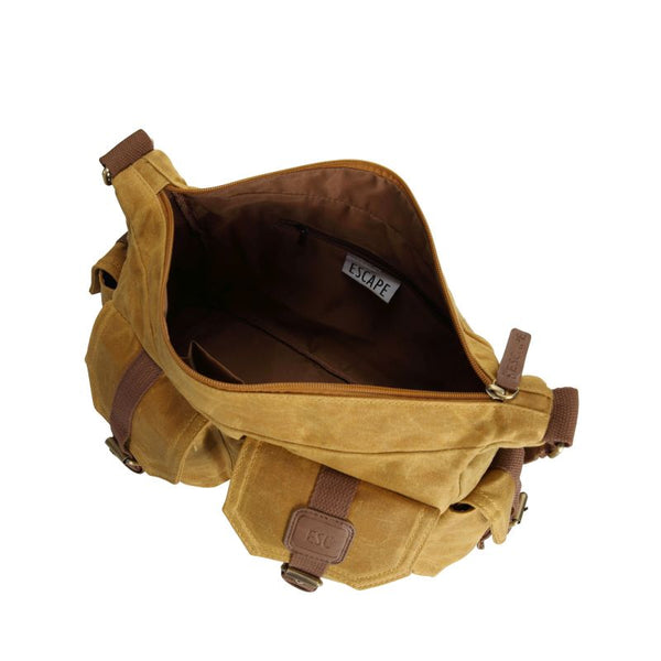 Escape Waxed Canvas Tactical Bag | Mustard - KaryKase