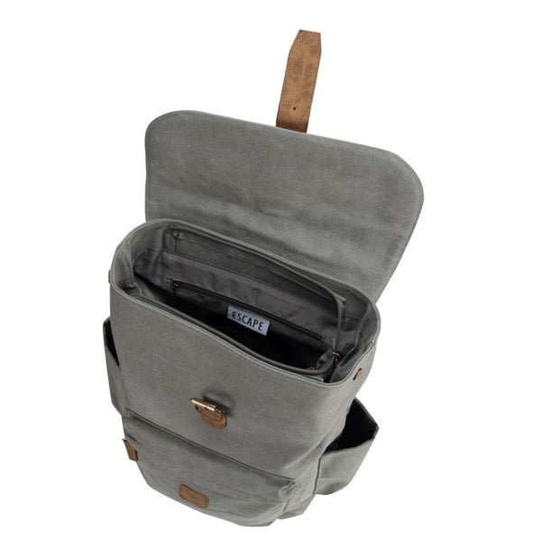 Escape Classic Canvas Medium Backpack | Light Grey - KaryKase