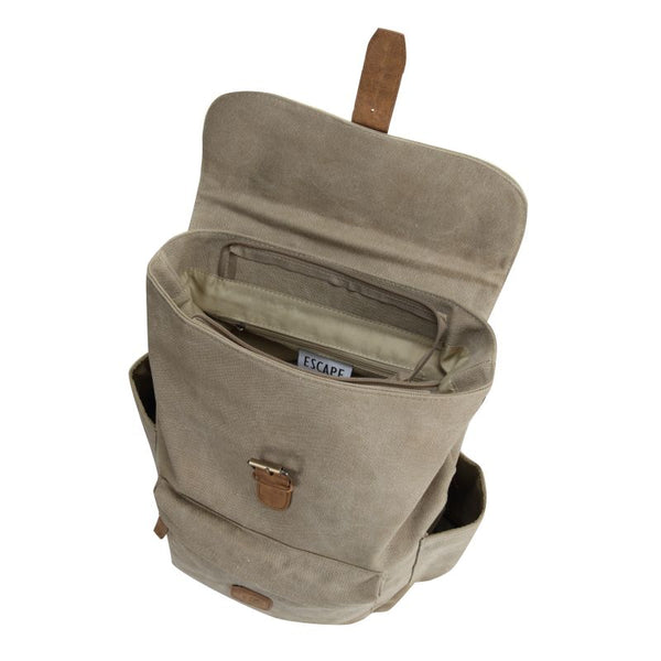 Escape Classic Canvas Medium Backpack | Taupe - KaryKase