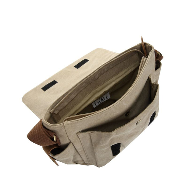 Escape Classic Canvas Unisex Bag | Taupe - KaryKase