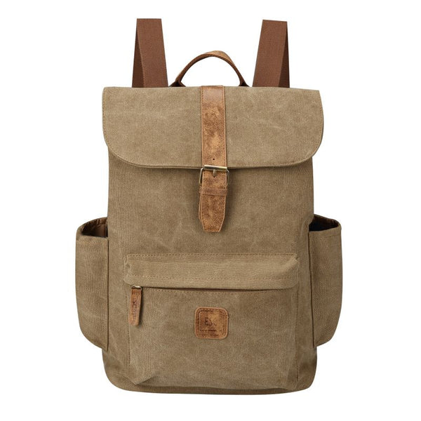 Escape Classic Canvas Laptop Backpack | Brown