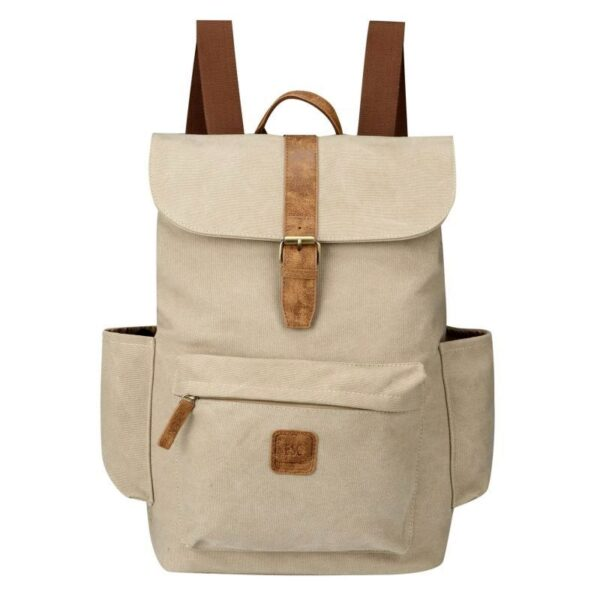 Escape Classic Canvas Laptop Backpack | Taupe