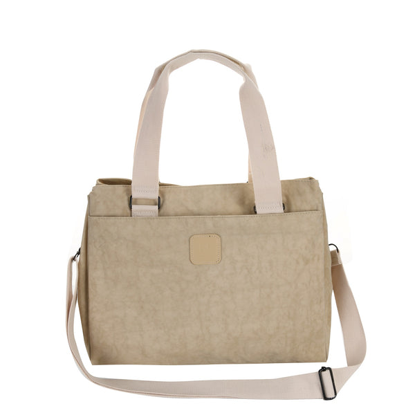 Escape Square Nylon Utility Handbag | Light Taupe - KaryKase