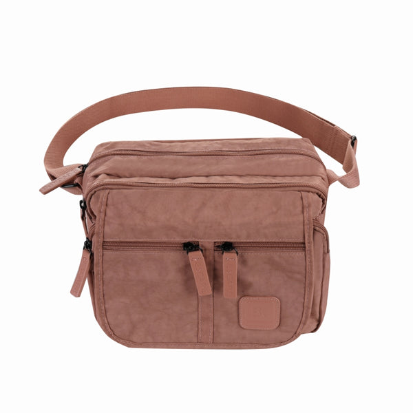 Escape Nylon Utility Multi Compartment Bag | Antique Pink - KaryKase