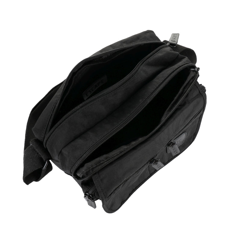 Escape Nylon Utility Multi Compartment Bag | Black - KaryKase
