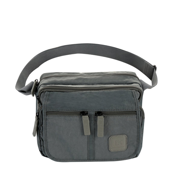 Escape Nylon Utility Multi Compartment Bag | Grey - KaryKase