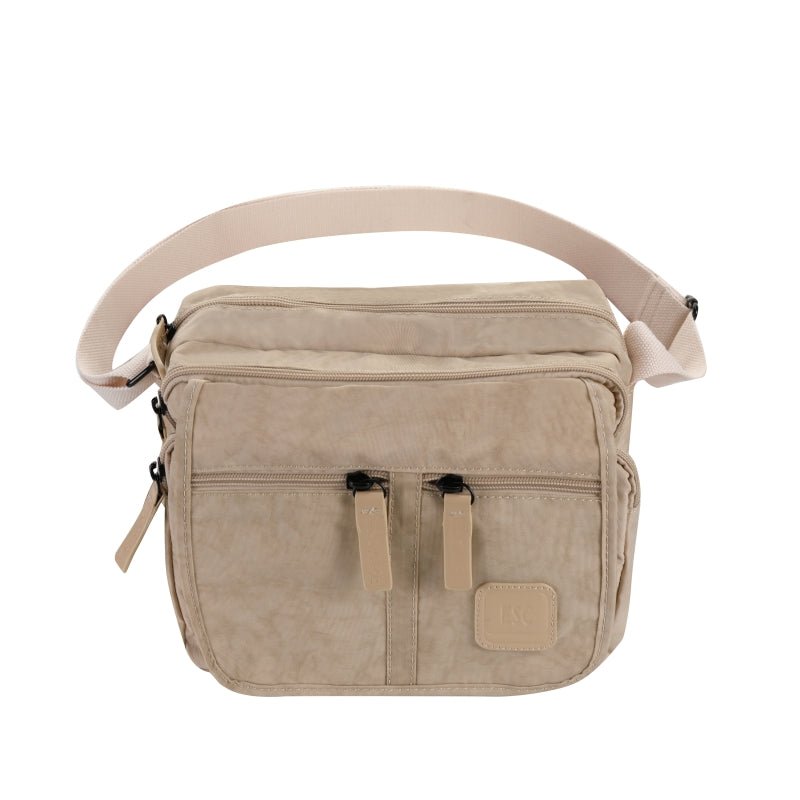 Escape Nylon Utility Multi Compartment Bag | Light Taupe - KaryKase