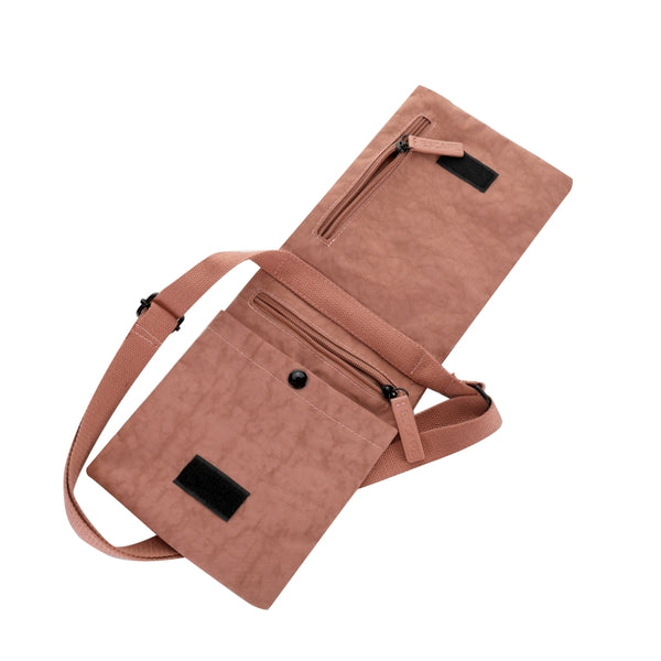 Escape Nylon Utility Cross Body Bag | Antique Pink - KaryKase