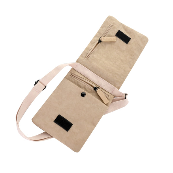 Escape Nylon Utility Cross Body Bag | Light Taupe - KaryKase