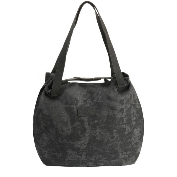 Escape Fatigue Canvas Hobo Handbag | Dark Grey - KaryKase