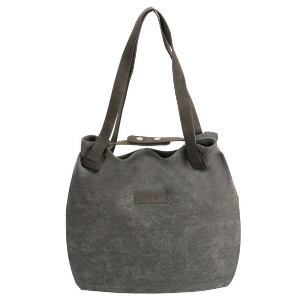 Escape Fatigue Canvas Hobo Handbag | Grey - KaryKase