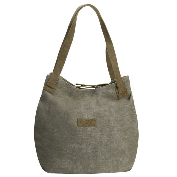 Escape Fatigue Canvas Hobo Handbag | Military Green - KaryKase