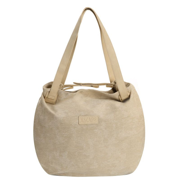 Escape Fatigue Canvas Hobo Handbag | Stone - KaryKase