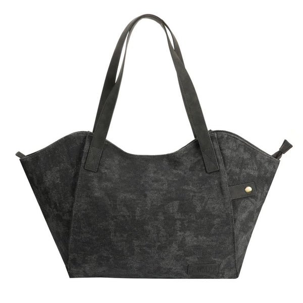 Escape Fatigue Canvas Tote Handbag | Dark Grey - KaryKase