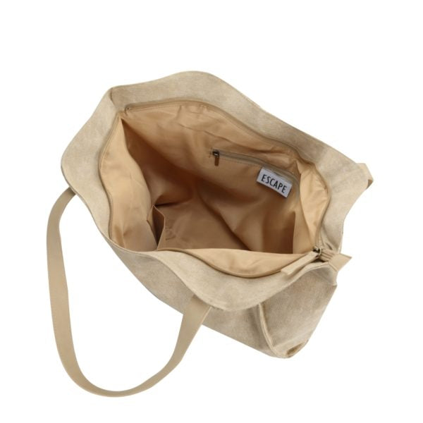 Escape Fatigue Canvas Tote Handbag | Stone - KaryKase