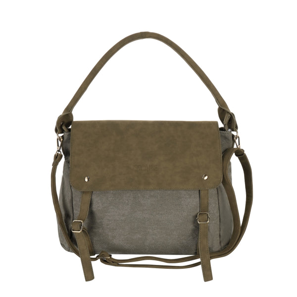 Escape Fatigue Canvas Messenger Bag | Military Green - KaryKase
