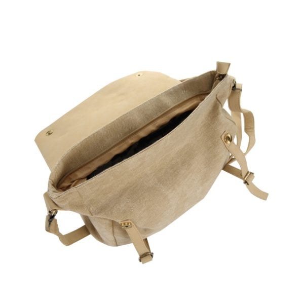 Escape Fatigue Canvas Messenger Bag | Stone - KaryKase