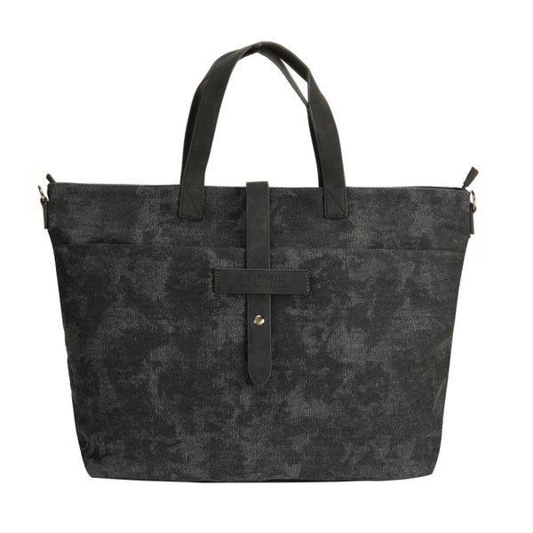 Escape Fatigue Canvas Market Tote | Dark Grey - KaryKase