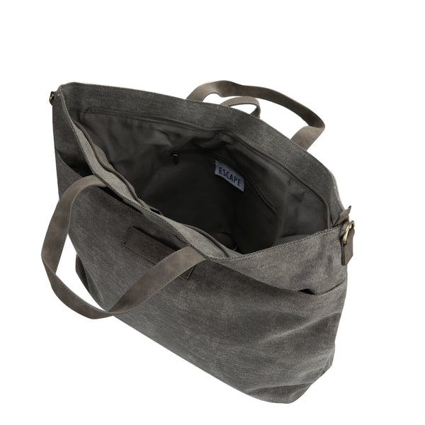 Escape Fatigue Canvas Market Tote | Grey - KaryKase