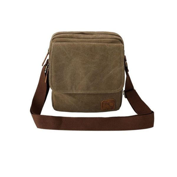 Escape Classic Canvas Utility Crossbody Bag | Light Brown - KaryKase