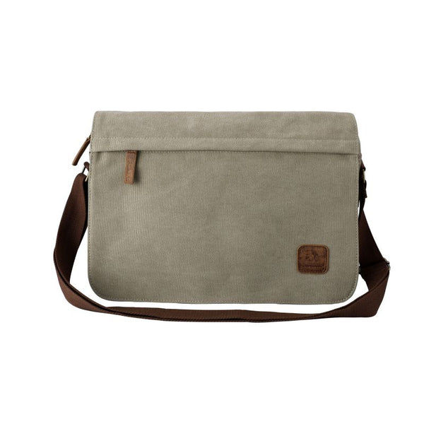 Escape Classic Canvas Messenger Bag | Taupe - KaryKase