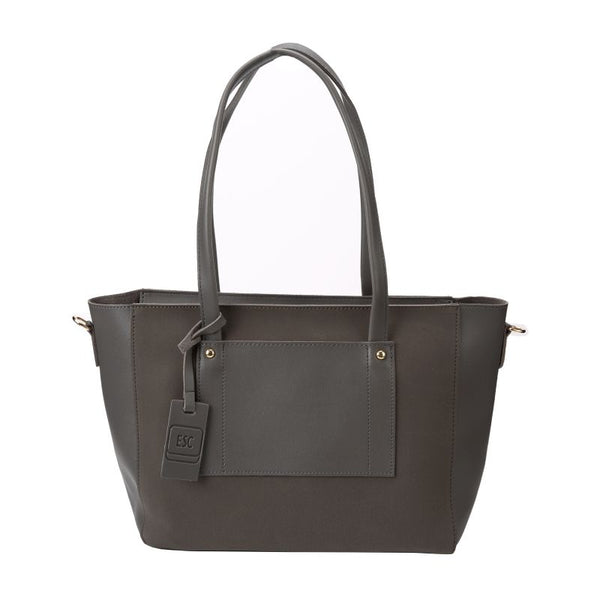 Escape Two Texture Pocket Handbag | Dark Grey - KaryKase