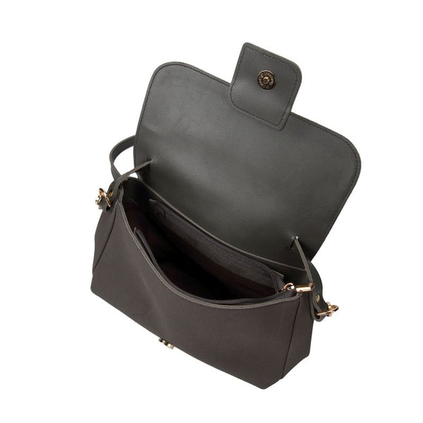 Escape Two Texture Box Bag | Dark Grey - KaryKase