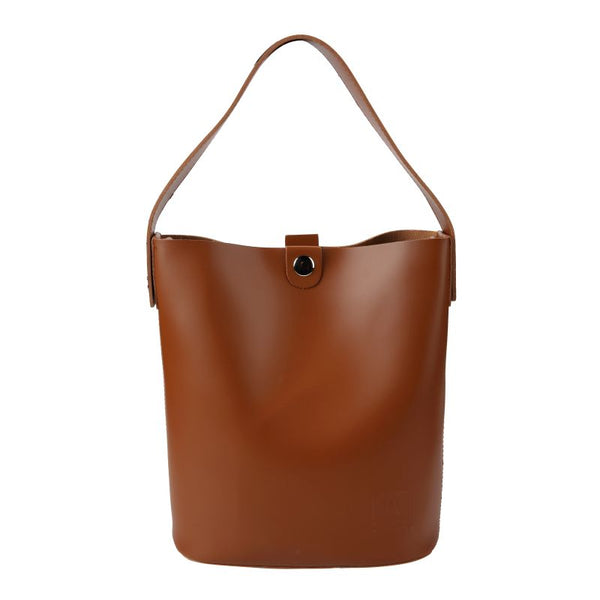 Escape Imitation Leather Shopper & Canvas Purse | Light Brown - KaryKase