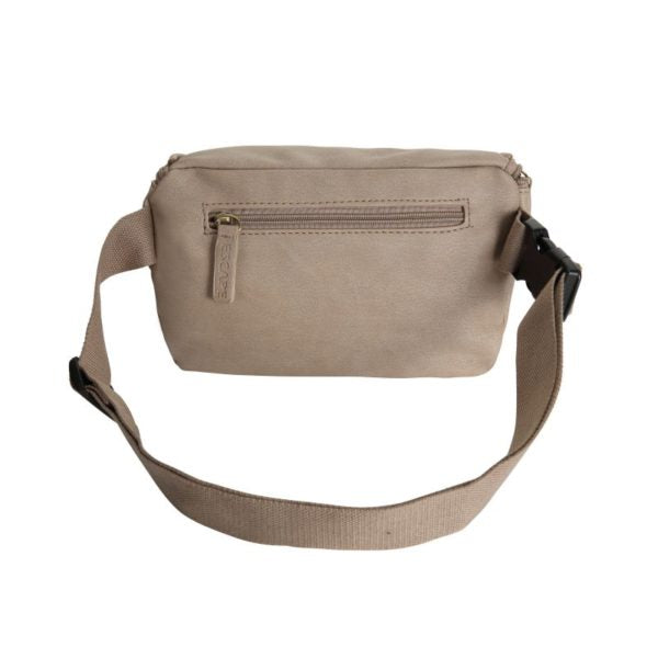 Escape Imitation Leather Belt Bag | Taupe - KaryKase
