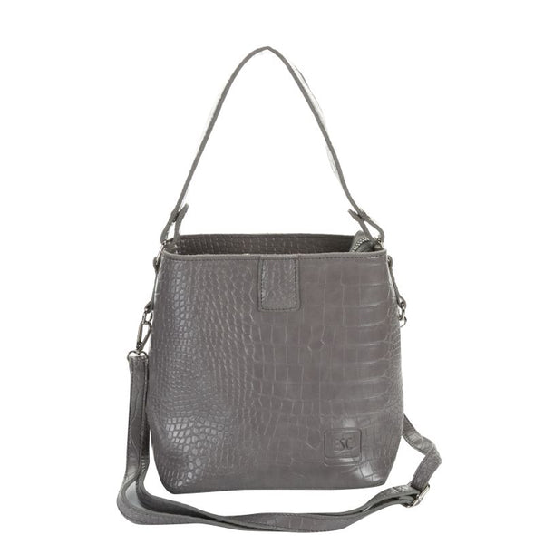 Escape Mock-Croc Shopper Handbag | Grey - KaryKase