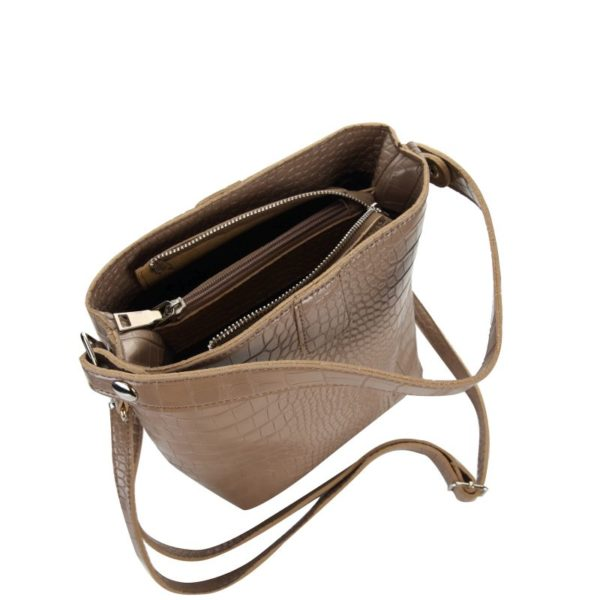 Escape Mock-Croc Shopper Handbag | Taupe - KaryKase