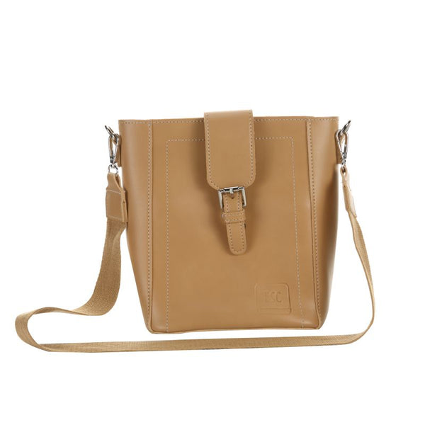 Escape Saddle Style Shopper Handbag with Purse | Beige - KaryKase