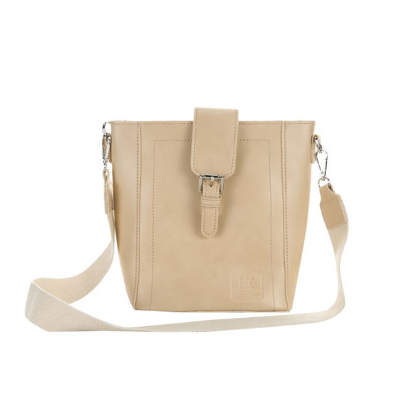 Escape Saddle Style Shopper Handbag with Purse | Cream - KaryKase