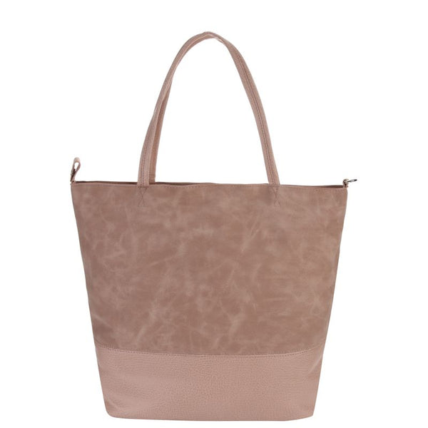 Escape Two Texture Tote Handbag | Antique Pink - KaryKase