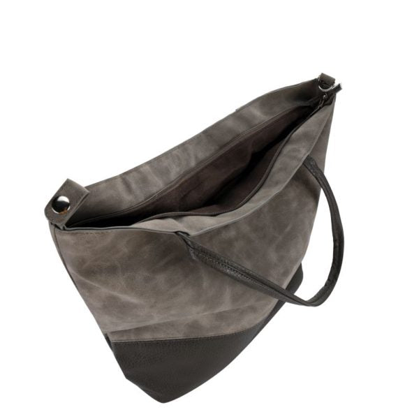 Escape Two Texture Tote Handbag | Dark Grey - KaryKase