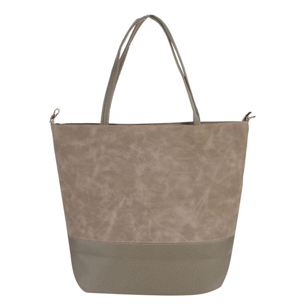 Escape Two Texture Tote Handbag | Light Grey