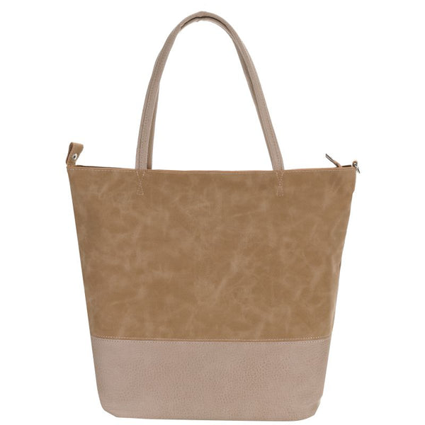 Escape Two Texture Tote Handbag | Taupe - KaryKase