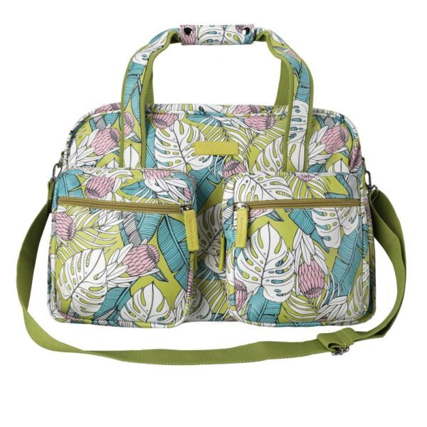 SoGood-Candy Weekender Bag | Tropical Protea PU - KaryKase
