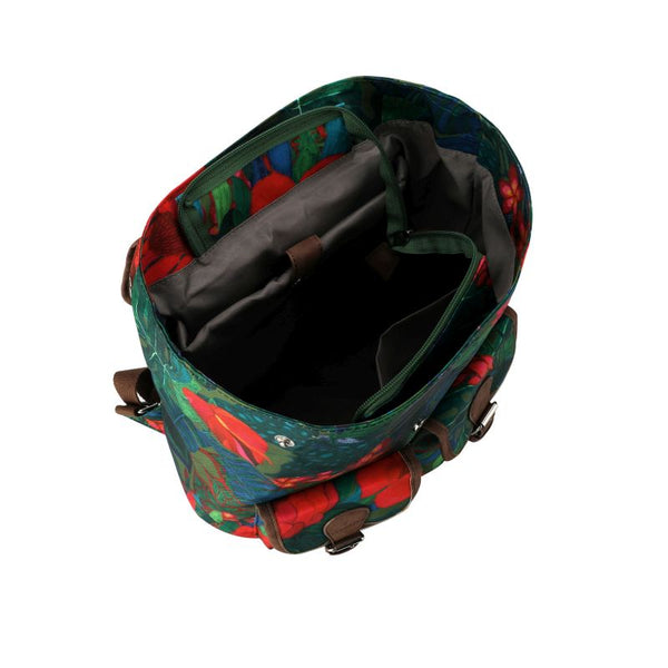 SoGood - Candy Casual Backpack | Green African Botanical - KaryKase