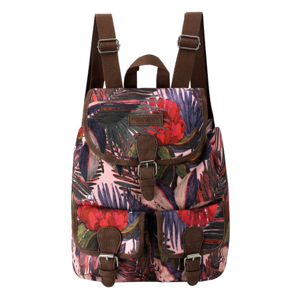 SoGood - Candy Casual Backpack | Pink African Botanical - KaryKase
