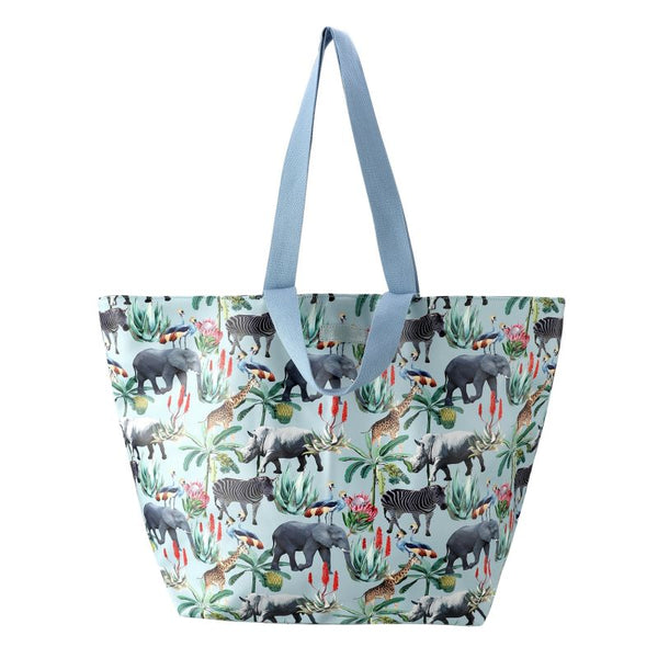 SoGood-Candy Beach Tote Bag | African Safari PU - KaryKase