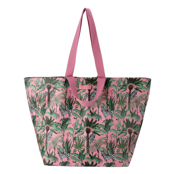 SoGood-Candy Beach Tote Bag | Zebras in Vegas PU - KaryKase