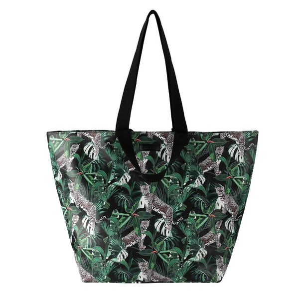 SoGood-Candy Beach Tote Bag | Jungle Leopard PU - KaryKase