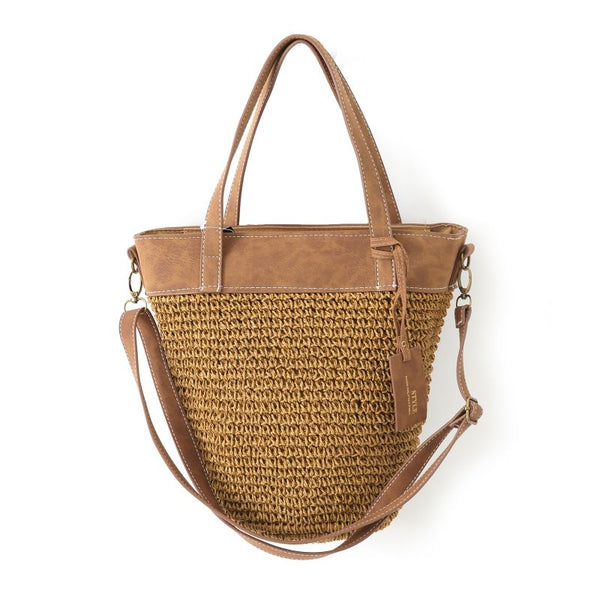 Semi Wild Crochet Shopper | Light Brown - KaryKase