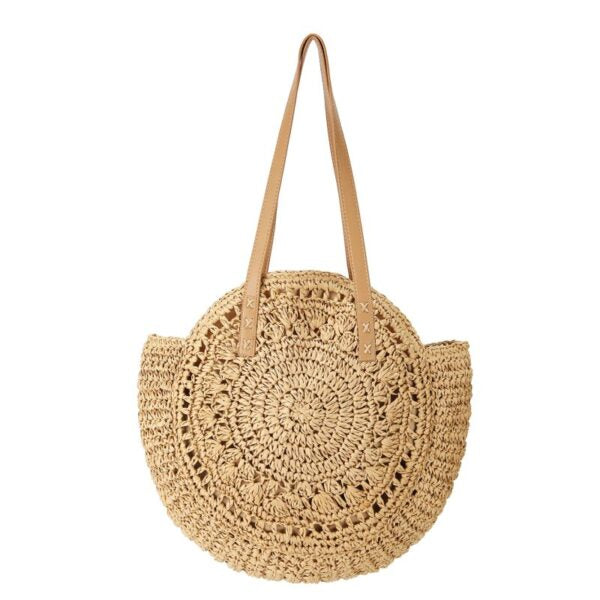 Semi Wild Round Crochet Shopper | Light Brown - KaryKase