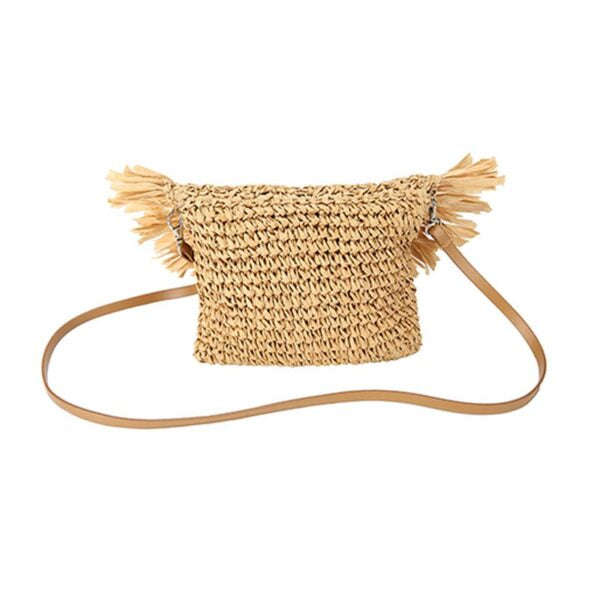 Semi Wild Crochet Cross Body Bag with Tassles | Light Brown - KaryKase
