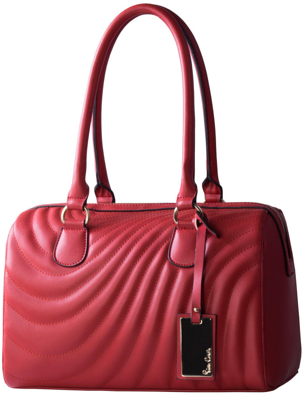 Pierre Cardin Tori Quilted Barrel | Red