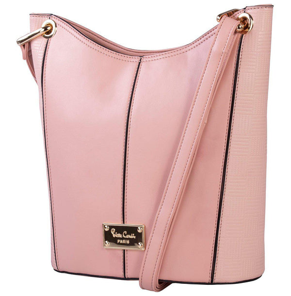 Pierre Cardin Lacey Structured Crossbody Bag | Pink - KaryKase