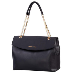 Pierre Cardin Dahlia Top Handle Handbag | Black - KaryKase
